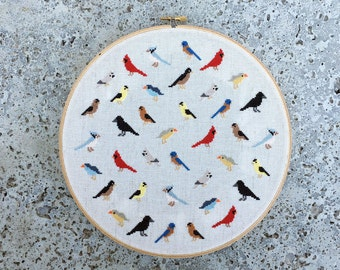 Birds - Modern cross stitch pattern PDF - Instant download