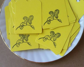 Yellow fairy tags