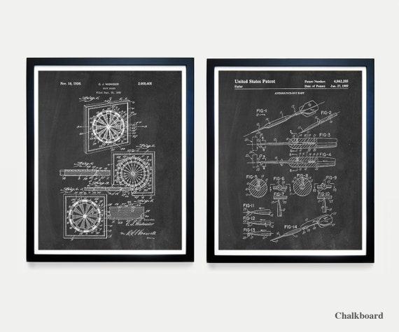 Dartboard Patent Art - Darts - Dart Patent - Darts Poster - Dartboard Art - Dart - Dart Patent - Wall Art - Home Renovation - Basement Art