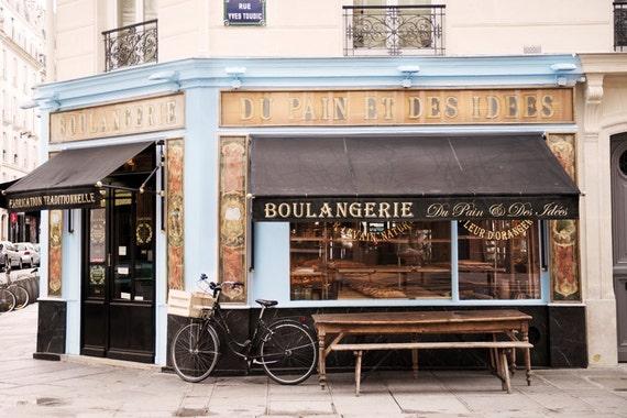Paris bakery photography classic paris boulangerie blue and - Decoration boulangerie patisserie ...