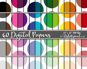 Mega Polka Dot Scrapbook Paper, Polka Dot Scrapbooking Paper, Polka Dot Digital Paper, Dot Pattern, Polka Dot Paper, Colorful Paper Pack