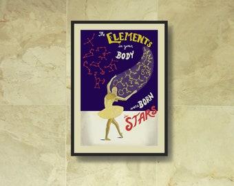 "Carl Sagan, ""You Are Star Stuff!"" - Print"