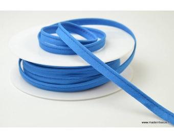 Passepoil 10 mm coton Bleu France