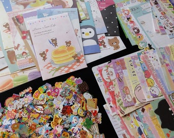 96 pc Stationery Paper Envelope + Memo + Stickers Set GRAB BAG surprise gift Pen Pal Penpal kawaii cute design party favor Variety Japan
