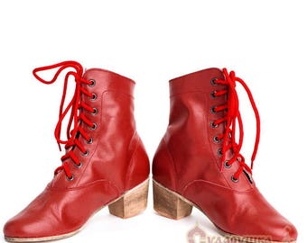 Woman Russian Dance Cossack Shoes Kadrille, Cossack boots, Dance boots, Russian boots