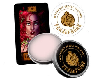 Persephone Solid Perfume. Sensual Solid Perfume. Goddess Salve. Scented Balm. Fresh Lush Magic. Pomegranate &  Fig. Natural and Cruelty Free