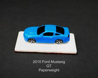 2010 Blue Mustang GT handcrafted ceiling fan/light chain pull or key chain/tree ornament or paperweight
