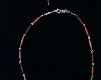 Set: Earrings, necklace, bracelet