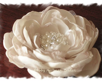 Wedding Flower Hair Clip, Bridal Flower Hair Piece, Flower Wedding Headpiece, Bridal Flower Hair Clip, Floral Wedding Hair Comb, No. 005F3