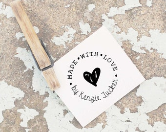 Made by Stamp, Handmade by Stamp, Custom Made by Stamp, Handmade Stamp,  Handmade with Love, Custom Business Stamp, Shipping Stamp,  10034
