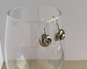 999 silver earrings - Sea shell earrings - Fine silver earrings - Gift for her - Ladies gift - Dangle silver earrings - Fashion accessory -