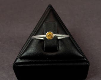 Yellow Citrine Birthstone Trinket Ring for November