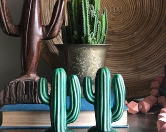 vintage ceramic cactus salt and pepper shakers Arizona