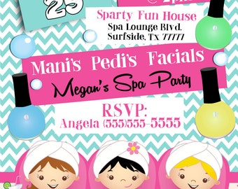 Spa party invitation spa birthday invitation spa party spa party invitation spa birthday invitation spa party supplies girls spa party invitation spa party stopboris Images