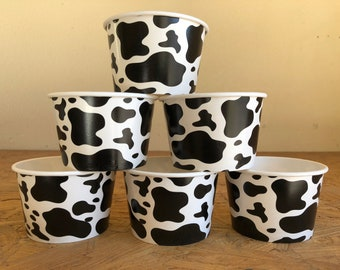 Cow Party Snack Cups, Cow Birthday Party Snack Cups, Farm Party Snack cups, Farm Birthday Party, Cow Party Favors