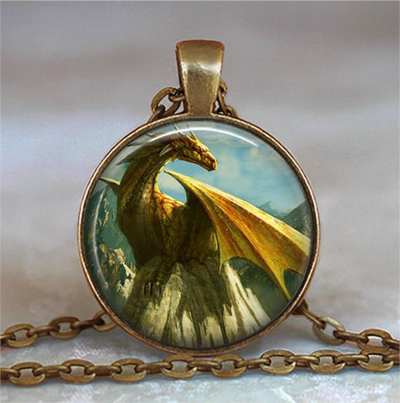 Golden Dragon necklace Dragon jewelry dragon jewellery gold