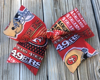 49ers Hair Bow