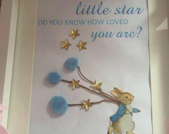 Peter Rabbit personalised frame, Beatrix Potter frame, peter Rabbit nursery? Peter Rabbit babyshower, Peter Rabbit baby,