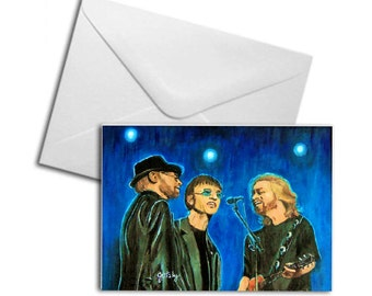 Bee Gee's Printed Greeting Card