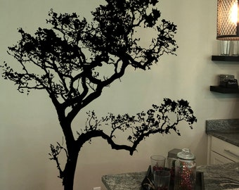 Big Oak Tree Wall Decal for Bedroom, Bathroom, Nursery, Living Room or Dinning Room Decor. item #409A