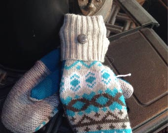 Sweater mittens , ladies small