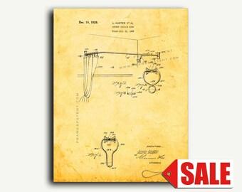 Patent Art - Shower-curtain Ring Patent Wall Art Print