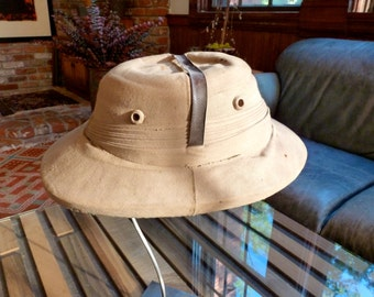 1930s Genuine Pith Helmet  - by Kapoor & Co., Kharakvasla, India Antique Very Cool and Also Cool Looking