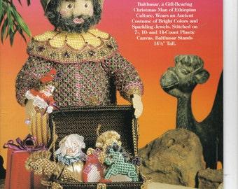 Old World Santas ~ plastic canvas book ~  Balthasar  ~  Needlecraft Shop