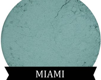 Matte Teal Eyeshadow MIAMI Mineral Makeup