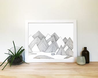 Mountain Drawing 1