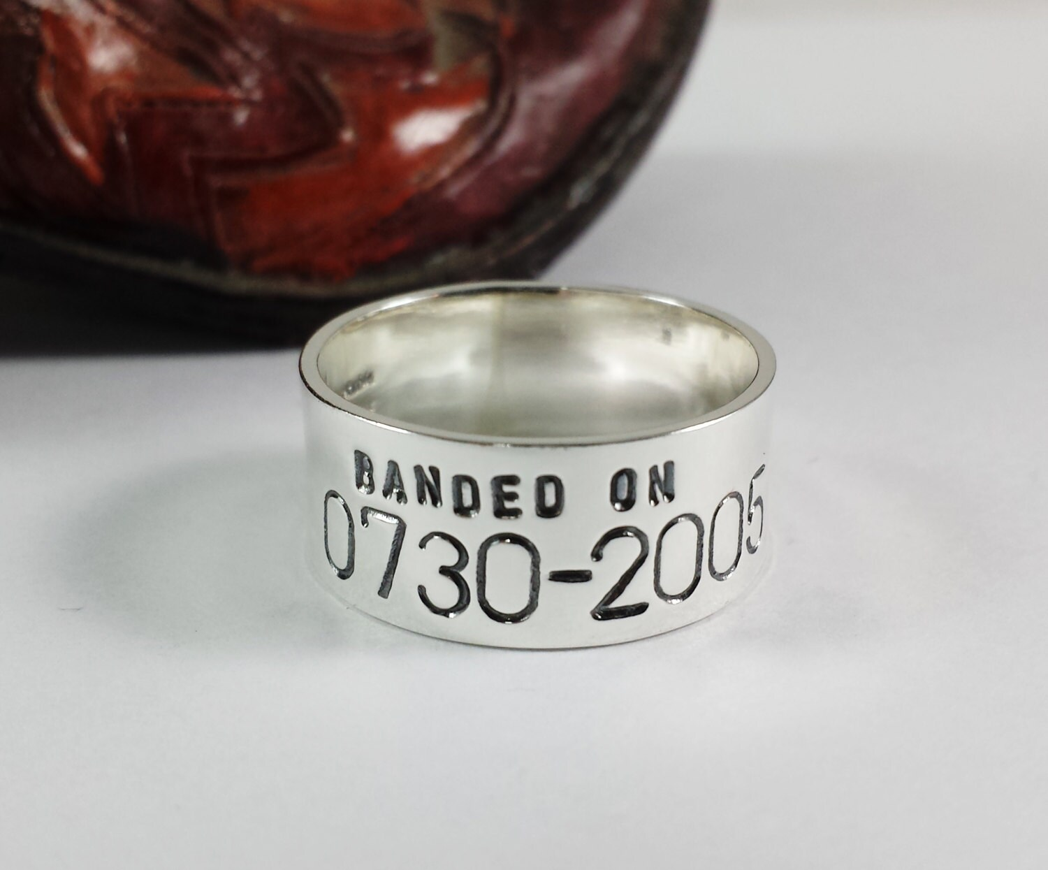 personalized duck band ring wedding ring anniversary