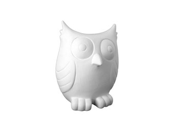 Owl Piggy Bank,Ceramic Bisque, Paintable Pottery, Craft Supplies