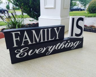 Family is Everything sign blocks - Home decor