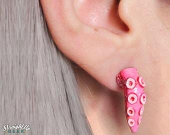 Octopus Earrings Tentacle Fake Gauges