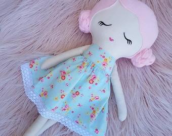 OOAK Handmade Cloth Doll, Rag Doll