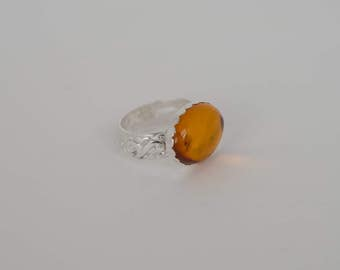 Bold Amber Ring size 6