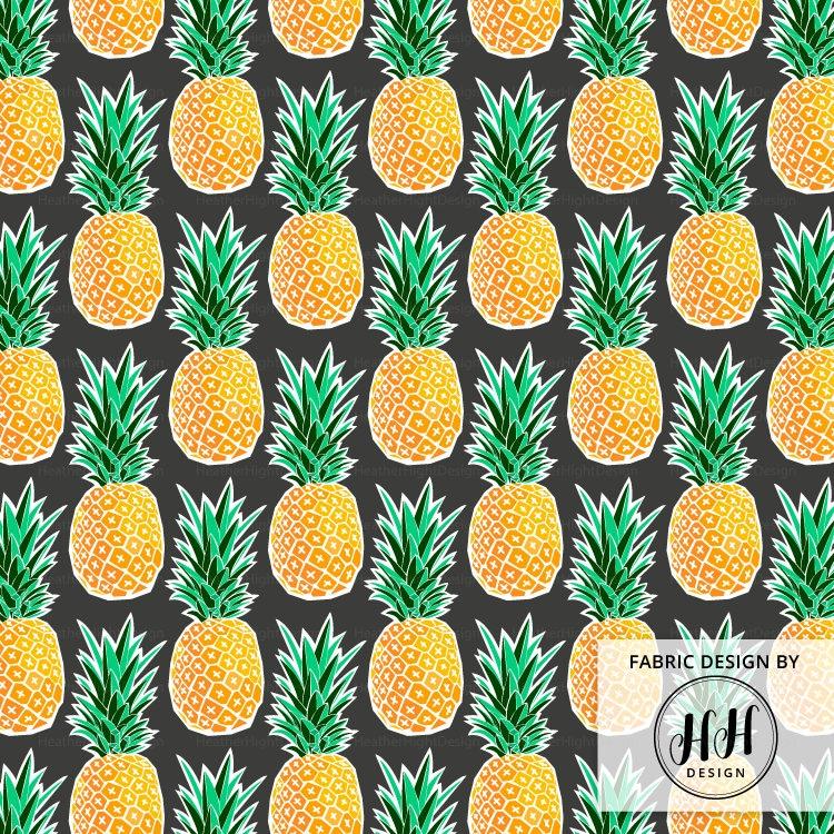 Tropical Pineapple Fabric By The Yard Geometric