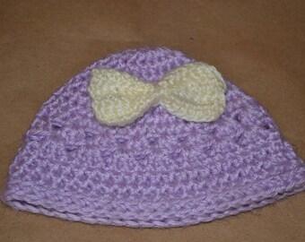 Infant bow beanie