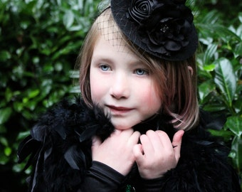 mini witch hat, ready to ship,  black witch headband, halloween flower headband,  witch hat, photo prop, baby headband,glitter