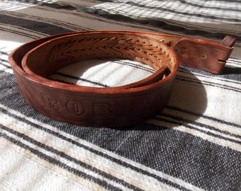 Tooled Belt, Size 42