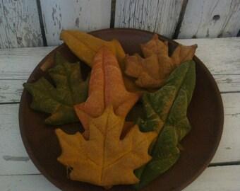 6 Primitive Fall Leaves Tucks/ Bowl Fillers/ Ornies