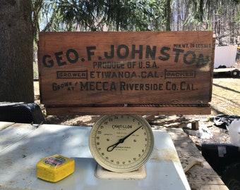 Geo. F. Johnston wood flat