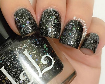 Midnight from the Across the Horizons Pack by Lucky Lacquer, 5-free Nail Lacquer