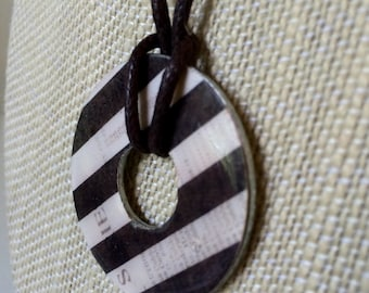 Striped Washer Necklace