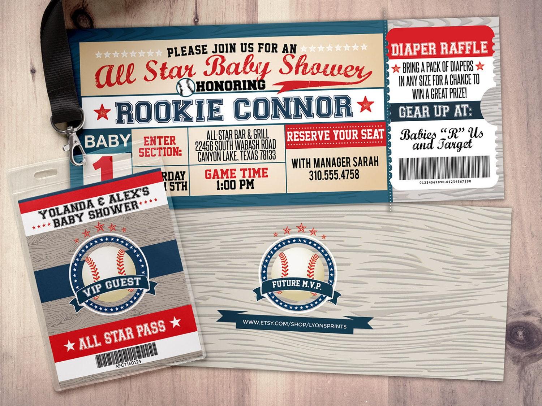 Vintage Baseball Shower Invitation, All Star Little Slugger Baby ...