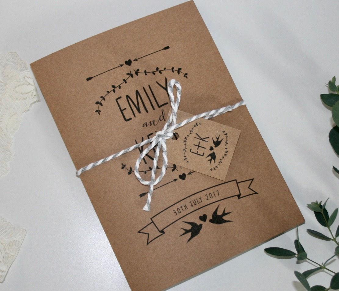 Rustic Wedding Invitation Bundle SAMPLE - Invitation, RSVP ...