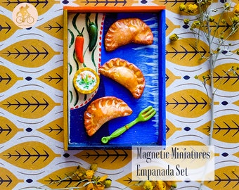 Colorful Empanada Set - Handmade Magnetic Food Miniatures