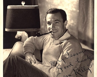 Gene Kelly Vintage Autographed Autograph Signed Hollywood Film Movie 8x10 Photograph 1940's Certified Authentic LOA