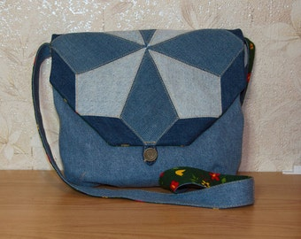 Jeans pocket in patchwork style