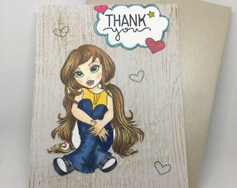 Thank you card, handmade card